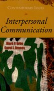 Cover for Contemporary Issues in Interpersonal Communication