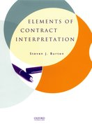 Cover for Elements of Contract Interpretation