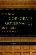 Cover for The New Corporate Governance in Theory and Practice