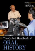 Cover for The Oxford Handbook of Oral History