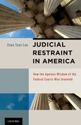 Cover for Judicial Restraint in America
