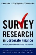 Cover for Survey Research in Corporate Finance