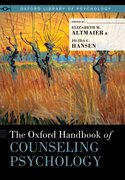 Cover for The Oxford Handbook of Counseling Psychology