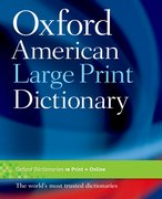 Cover for Oxford American Large Print Dictionary