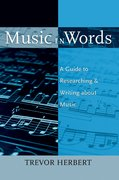 Cover for Music in Words