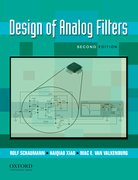 Cover for Design of Analog Filters 2nd Edition