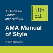 Cover for AMA Manual of Style Online