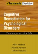 Cover for Cognitive Remediation for Psychological Disorders