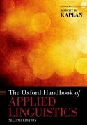 Cover for The Oxford Handbook of Applied Linguistics