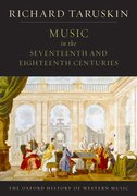 Cover for Music in the Seventeenth and Eighteenth Centuries