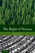 Cover for The Right of Nonuse