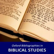 Cover for Oxford Bibliographies in Biblical Studies