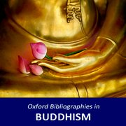 Cover for Oxford Bibliographies in Buddhism
