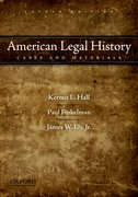 Cover for American Legal History