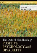 Cover for The Oxford Handbook of Positive Psychology and Disability