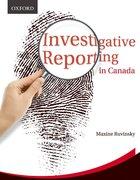 Cover for Investigative Reporting in Canada
