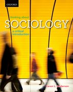 Cover for Thinking About Sociology