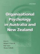 Cover for Organisational Psychology in New Zealand and Australia