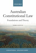 Cover for Australian Constitutional Law