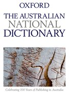 Cover for The Australian National Dictionary