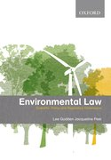 Cover for Environmental Law Scientific, Policy and Regulatory Dimensions