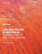 Cover for Law and Justice in Australia