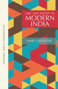 Cover for Law and Society in Modern India