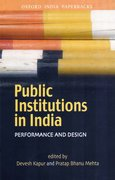 Cover for Public Institutions in India
