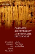 Cover for Corporate Accountability and Sustainable Development