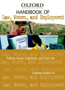 Cover for Handbook of Law, Women, and Employment in India Policies, Issues, Legislation, and Case Law