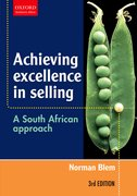 Cover for Achieving Excellence in Selling