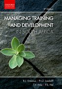 Cover for Managing Training and Development in South Africa