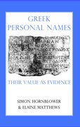 Cover for Greek Personal Names