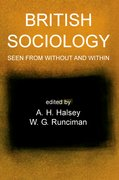 Cover for British Sociology Seen from Without and Within