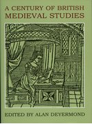 Cover for A Century of British Medieval Studies