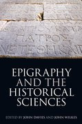 Cover for Epigraphy and the Historical Sciences