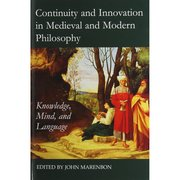 Cover for Continuity and Innovation in Medieval and Modern Philosophy