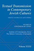 Cover for Textual Transmission in Contemporary Jewish Cultures