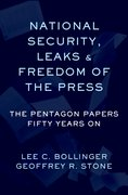 Cover for National Security, Leaks and Freedom of the Press