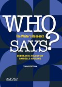Cover for Who Says?