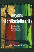 Cover for Beyond Interdisciplinarity