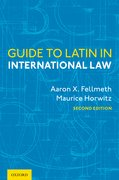 Cover for Guide to Latin in International Law