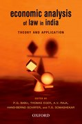 Cover for Economic Analysis of India Law in India