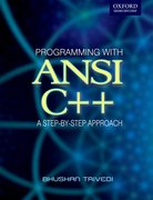 Cover for Programming with ANSI C++: A Step-by-step Approach