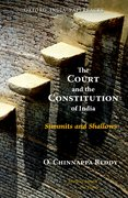 Cover for The Court and the Constitution of India Summits and Shallows