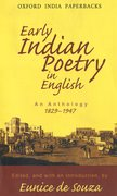 Cover for Early Indian Poetry in English