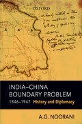 Cover for India-China Boundary Problem, 1846-1947