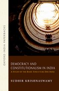 Cover for Democracy and Constitutionalism in India