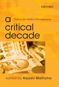 Cover for A Critical Decade