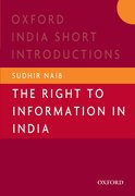 Cover for The Right to Information in India